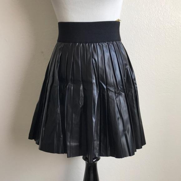27d58ac09d1 Skirts | Pleated Faux Leather Skirt | Poshmark